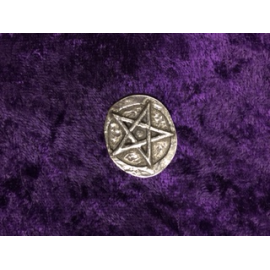 Pentacle Pewter Charm